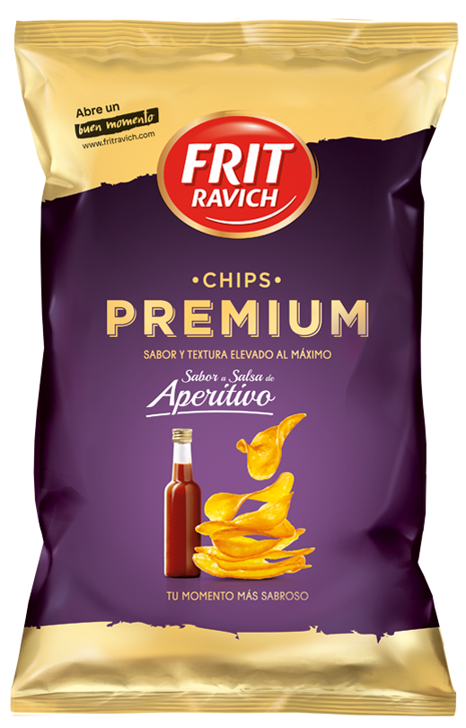 Bolsa de patatas Chips Premium sabor Aperitivo Frit Ravich