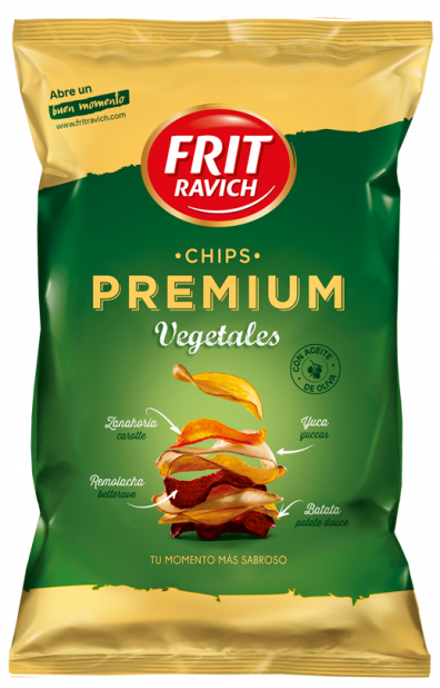 Bolsa de patatas Chips Premium Vegetales Frit Ravich