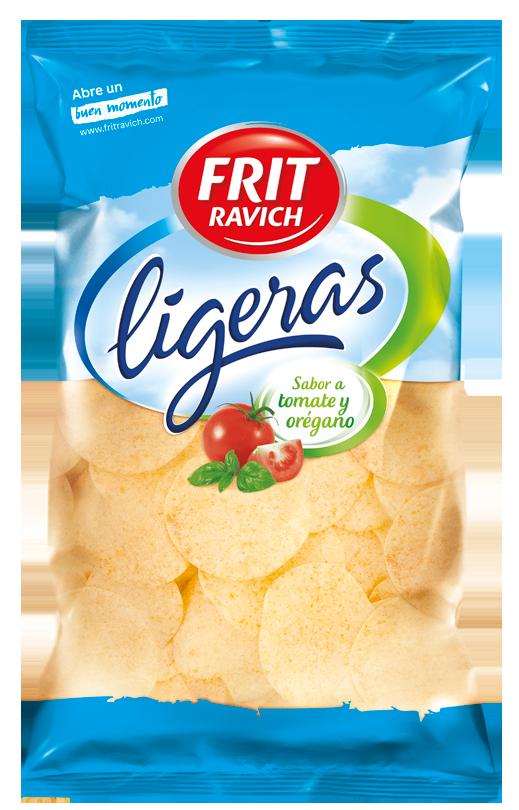 Bolsa de patatas Ligeras sabor a Tomate y Orégano de Frit Ravich