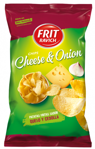 Bolsa de patatas Chips Cheese Onion de Frit Ravich