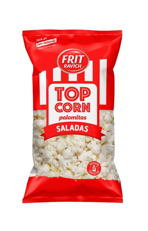 Bolsa de Palomitas saladas Top Corn línea joven de Frit Ravich