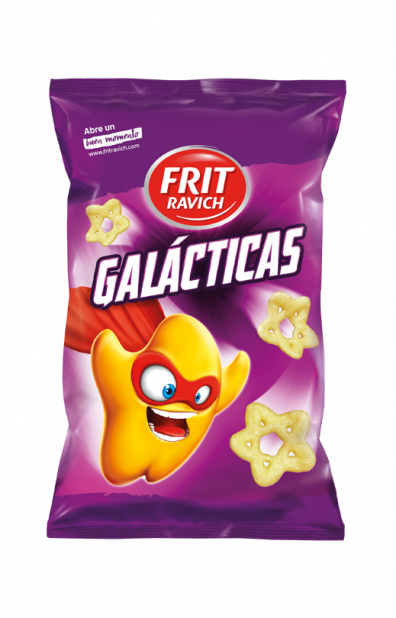 Bolsa de snacks Galácticas Línea Joven de Frit Ravich