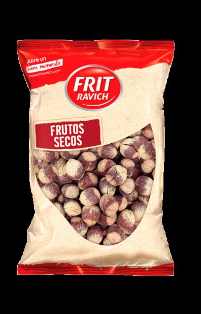 Bolsa de frutos secos avellanas con cáscara tostadas