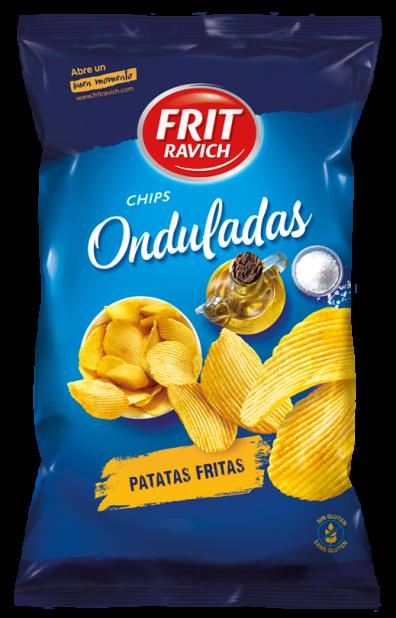 Bolsa de patatas Chips Onduladas de Frit Ravich