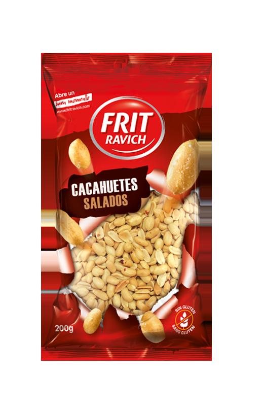 Bolsa de cacahuetes repelados fritos y salados Frit Ravich
