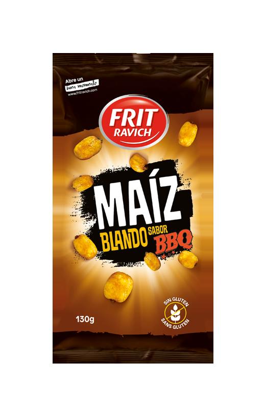 Bolsa de Maíz blando sabor barbacoa Línea joven FRIT RAVICH